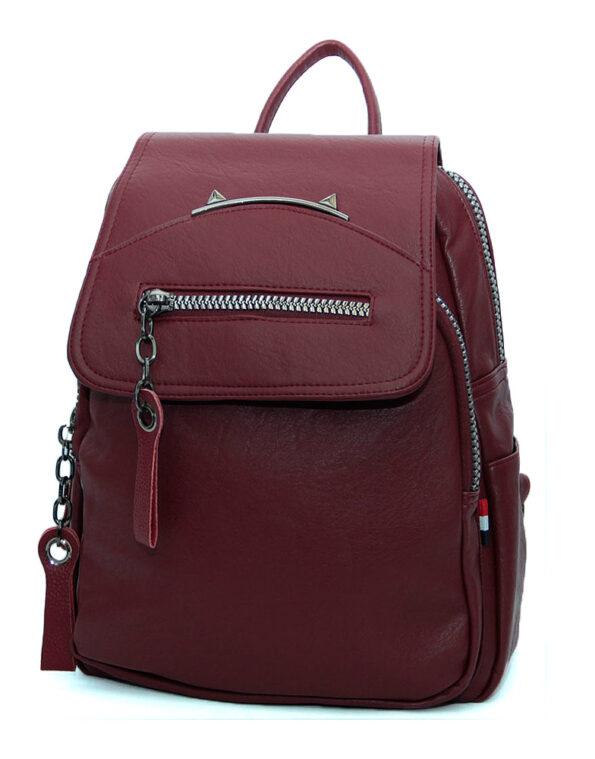 рюкзак женский, эко-кожа 1335 бордо