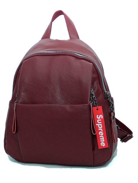 рюкзак женский из экокожи 0691 бордо