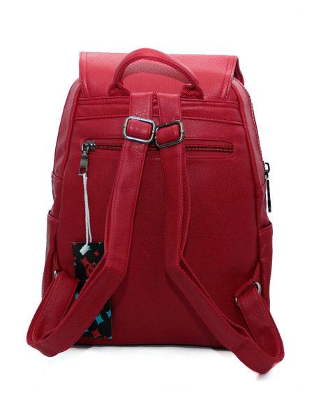 рюкзак женский, эко-кожа 1335 красный