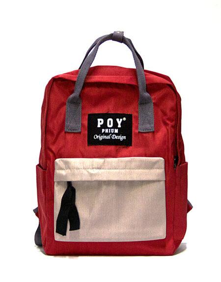Сумка-рюкзак POY 1855 красный, пудра