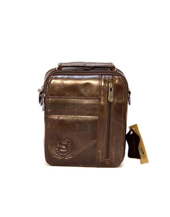 Мужская сумка через плечо из натуральной кожи- F 312