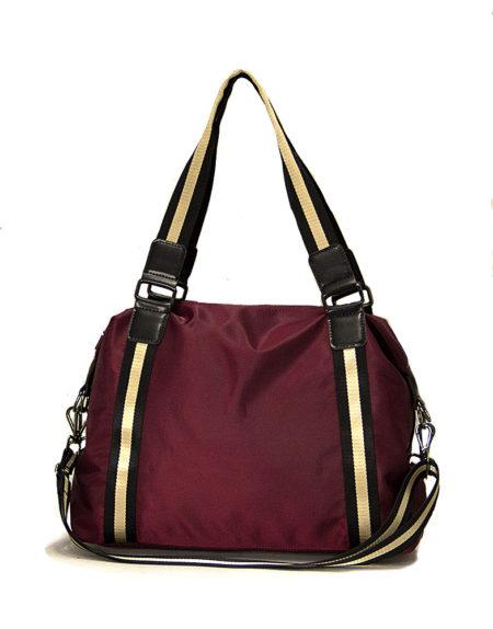 Женская сумка из текстиля 2023 vinous