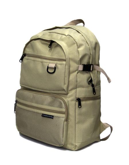 Мужской рюкзак два отделения 2008-1 бежевый