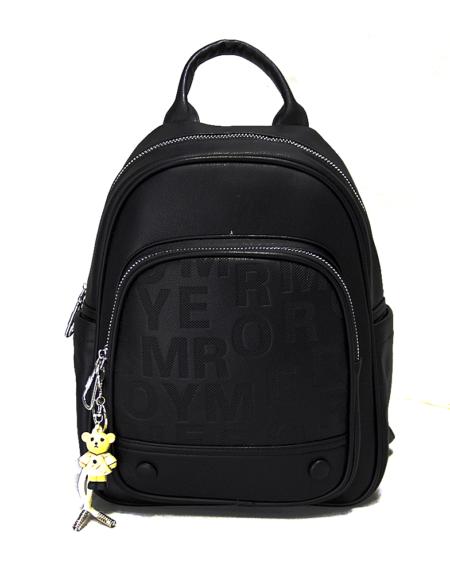 Рюкзак женский из экокожи 0928 чёрный Nikki Nanaomi