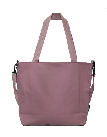Шопер, сумка женская текстильная 5105 цвет- пудровый