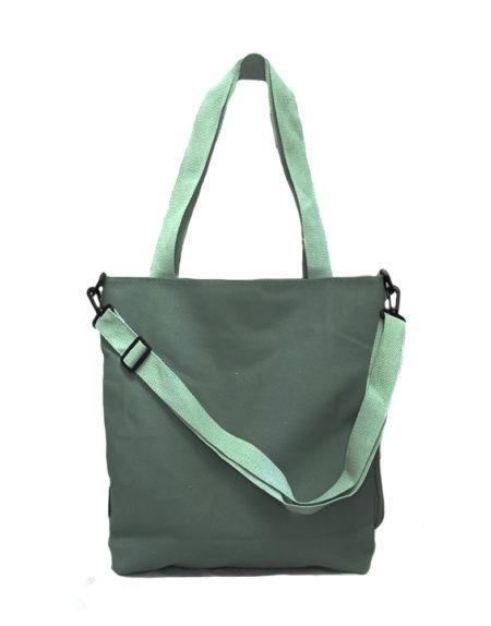 Шопер, сумка женская текстильная 9118 цвет — ментоловый