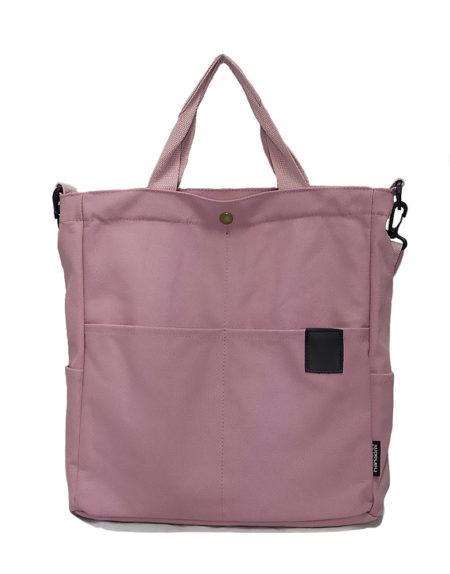 Шопер, сумка текстильная 8160 розовая
