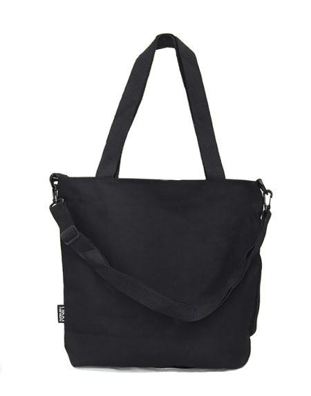 Шопер, сумка женская текстильная 9118 цвет — чёрный