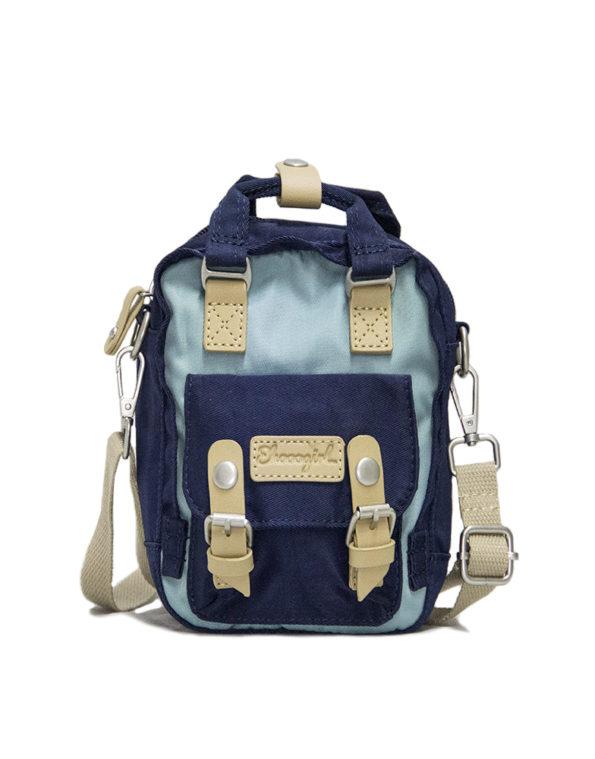 Сумка-рюкзак, 1966 мини. сине-голубой.