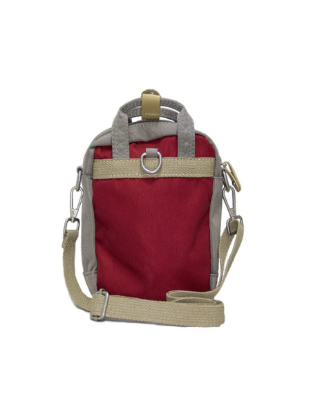 Сумка-рюкзак, 1966, мини. красно-серый