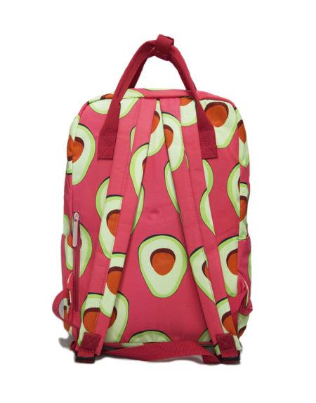Сумка-рюкзак 8612 Авокадо, коралловый