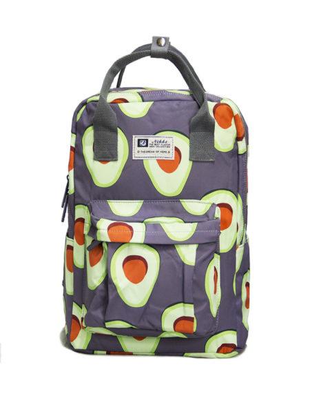 Сумка-рюкзак 8612 Авокадо, серый