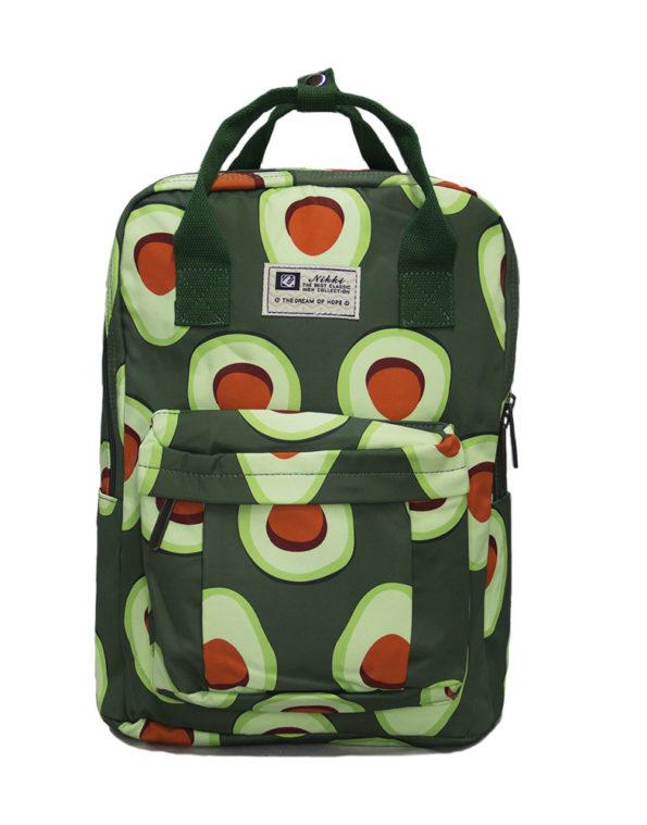 Сумка-рюкзак 8612 Авокадо, темно-зелёный
