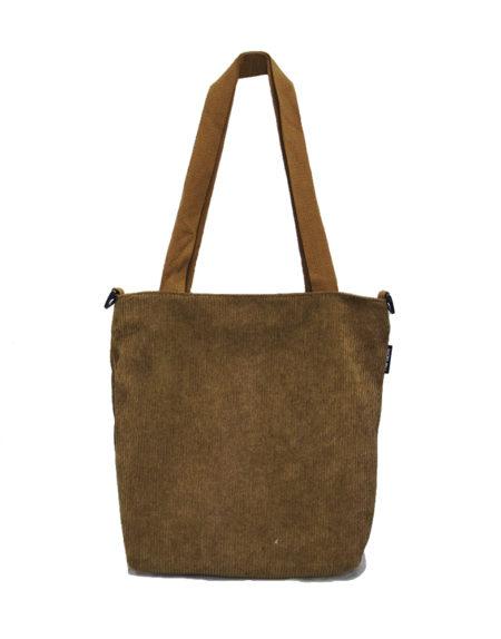 Шопер, сумка женская вельветовая 6798 коричневая