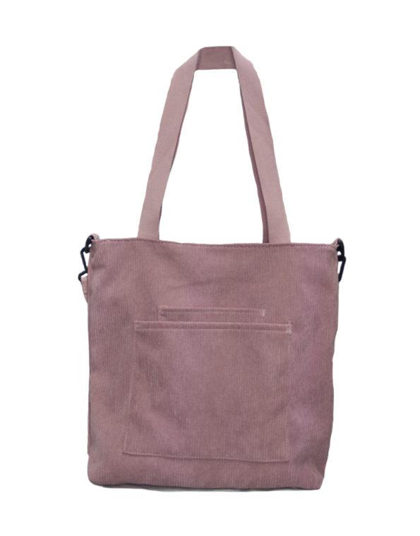 Шопер, сумка женская вельветовая 6792 розовая