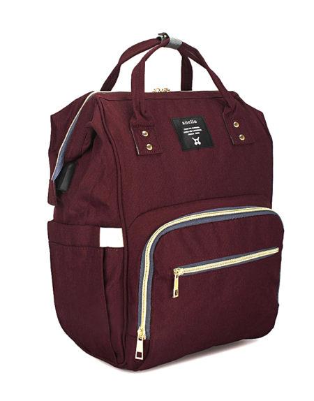 Сумка рюкзак для мамочки, В-001 Бордо