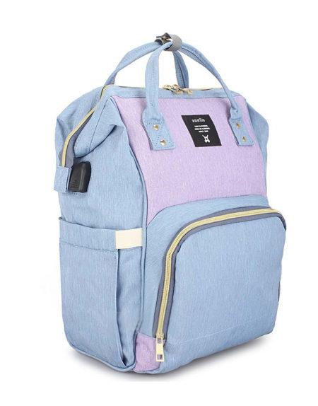 Сумка рюкзак для мамочки В-001, ментол