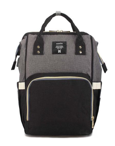Сумка рюкзак для мамочки В-001, черно-серый