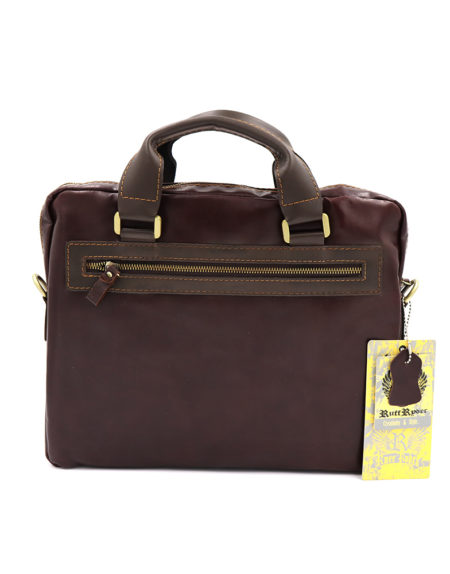 Сумка-портфель, кожа 1125. Коричневая