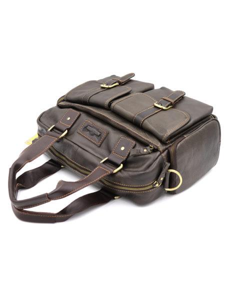Сумка-портфель, кожа 1524-2 коричневая