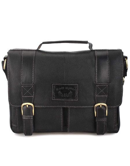 Портфель мужской, кожа 2090 Черный