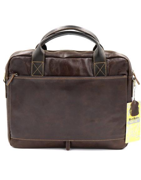 Сумка- портфель, кожа. 4063 коричневая