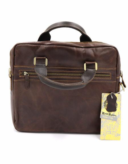 Сумка-портфель, кожа 4092 коричневая