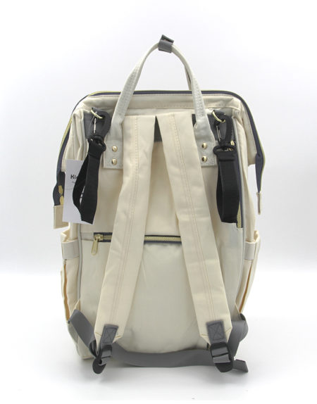 Сумка-рюкзак для мамочки В-001, Бело-бордо