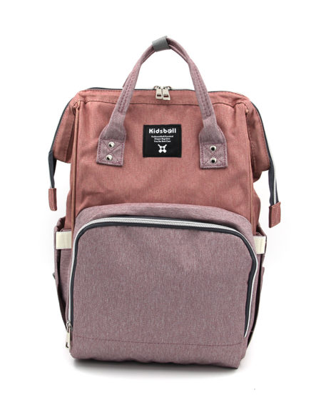 Сумка-рюкзак для мамочки В-001, Персик