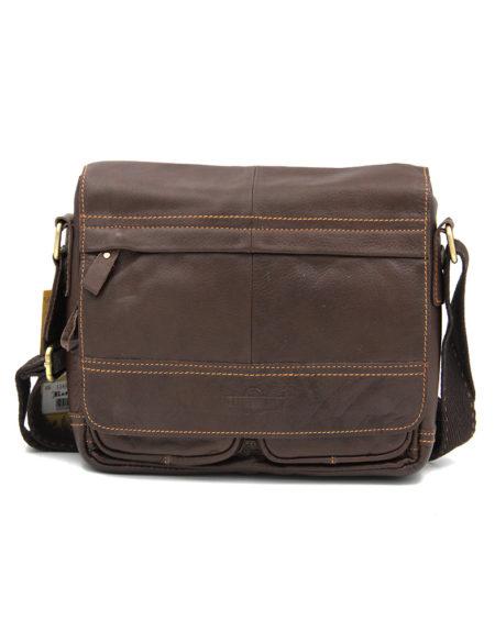 Сумка-планшет, кожа 1245-1, коричневая
