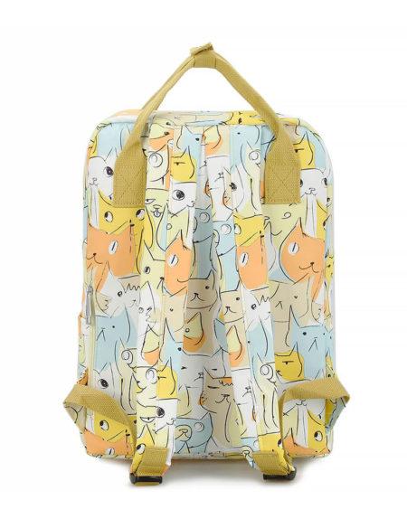 Сумка-рюкзак Кошечки 8612, жёлтый