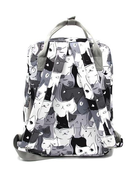 Сумка-рюкзак Кошечки 8612, Серый